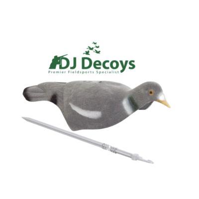 Flocked Wood Pigeon Decoy Shells