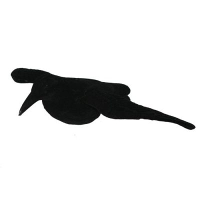flocked full body flying crow decoy