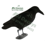Full bodied flocked crow decoys