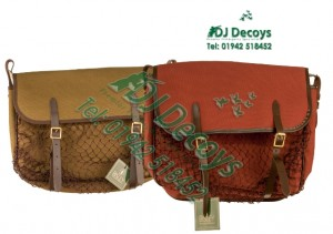 Bisley canvas and leather game bags