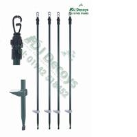 Twist lock hide poles set of 4 with bag