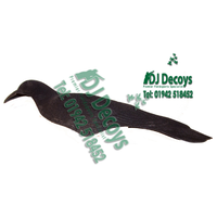 Flocked shell crow decoys