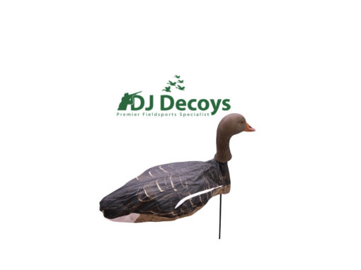 The Enforcer Greylag windsock goose decoys are ready to use straight out the box, you simply unfold the unique snap lock system until the decoys are fully open. When placing the decoys into the ground take hold of the base of the snap lock system underneath the head of the goose decoys and firmly push the fibre rod into the ground to your required depth. When removing the Enforcer windsock decoys place your hands on the under side of the snap lock system were the 7mm fibre rod goes in and pull up to remove from the ground NEVER use the heads of the goose decoys to push or remove from the ground as this may result in damaging your windsock goose decoys.